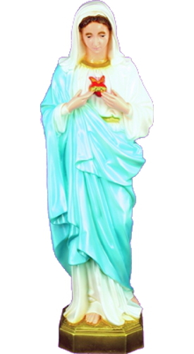 Garden Statue Mary Immaculate Heart 24 inch Outdoor Vinyl