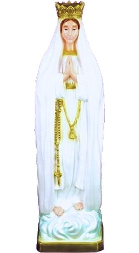 Garden Statue Mary Our Lady Fatima Pilgrim Virg 24 inch Outdoor