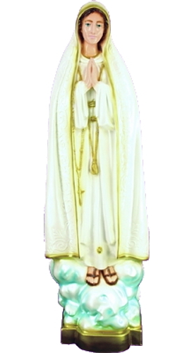 Garden Statue Mary Our Lady Fatima 32 inch Outdoor Vinyl