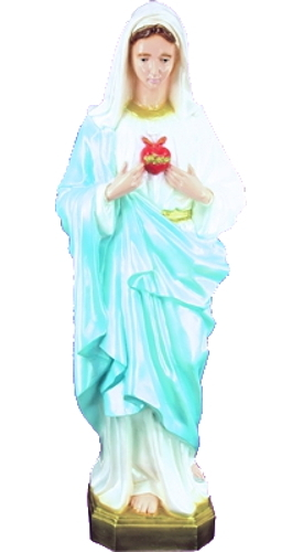 Garden Statue Mary Immaculate Heart 32 inch Outdoor Vinyl