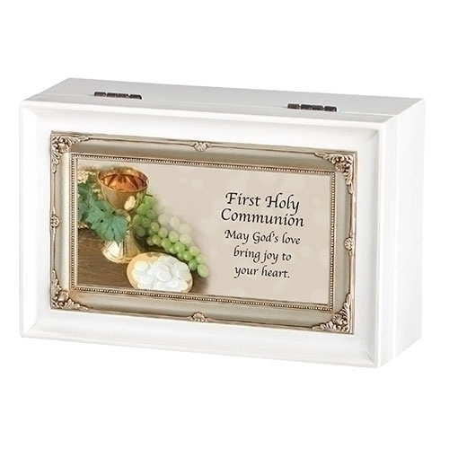 Music Box First Holy Communion Ave Maria White