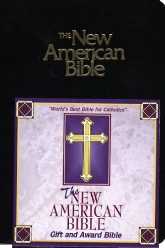 New American Bible World Catholic Regular Print Im Leather Black