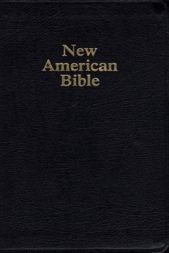 New American Bible World Catholic Regular Print Leather Black