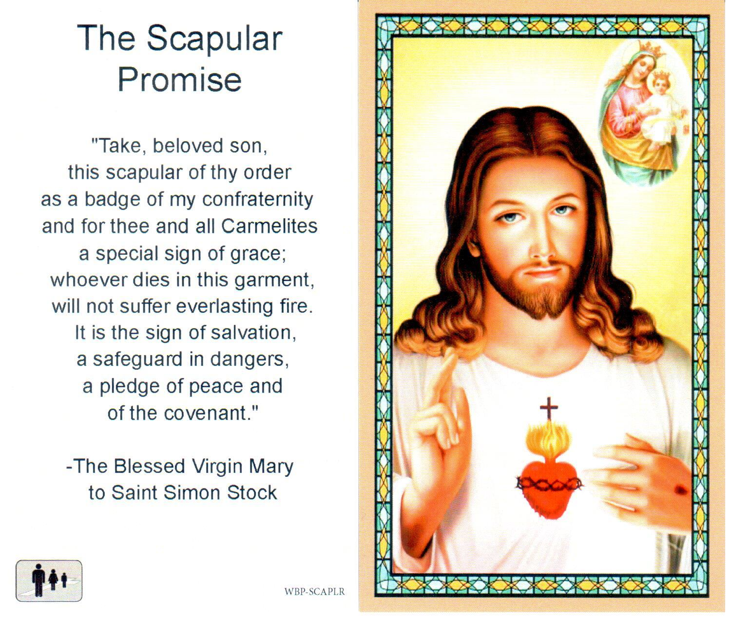 Prayer Holy Card Scapular Promise Laminated
