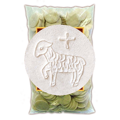 Hosts White 1-3/8 inch Lamb of God, Bag/250