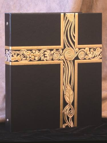 Ceremonial Binder Black & Gold Foil Three Ring
