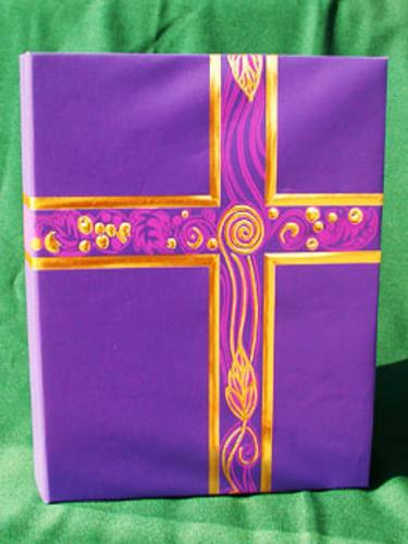 Ceremonial Binder Violet & Gold Foil Three Ring