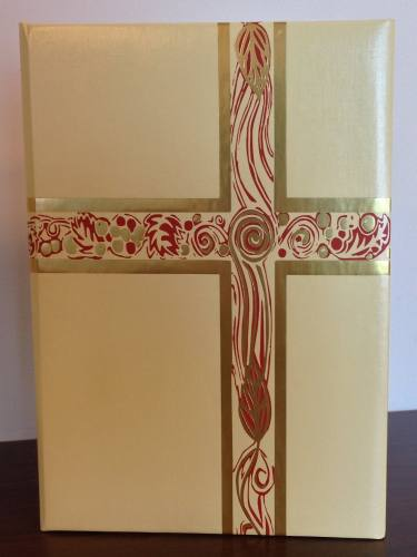 Ceremonial Folder Cream (White) & Gold Foil