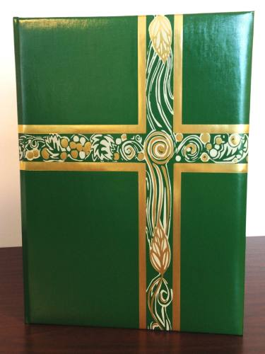 Ceremonial Folder Green & Gold Foil