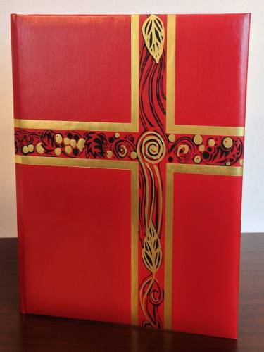 Ceremonial Folder Red & Gold Foil