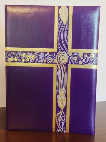 Ceremonial Folder Violet & Gold Foil