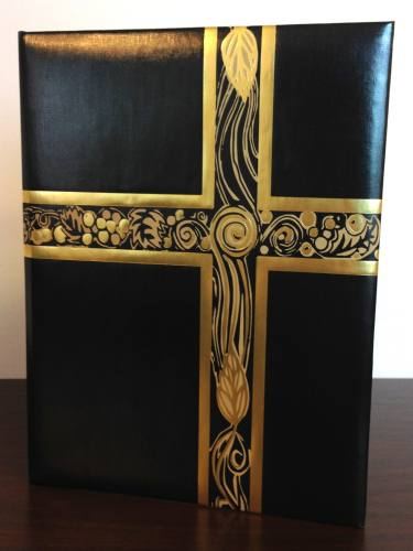 Ceremonial Folder Black & Gold Foil