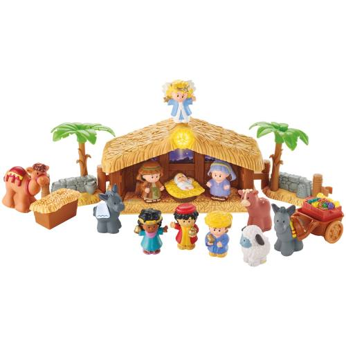 Nativity Little People Deluxe Christmas Story 12 PC