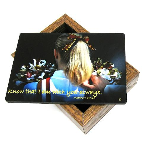 Keepsake Box Sport Cheerleading Laminated Hardwood