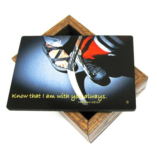 Keepsake Box Sport Ice Hockey Laminated Hardwood