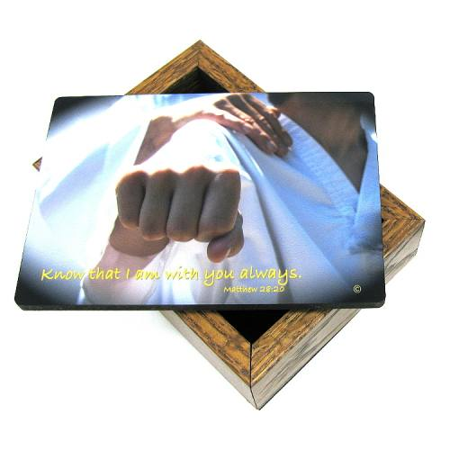 Keepsake Box Sport Martial Arts Laminated Hardwood