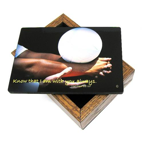 Keepsake Box Sport Volleyball Laminated Hardwood