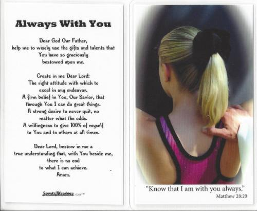 Prayer Holy Card Gymnastics Laminated