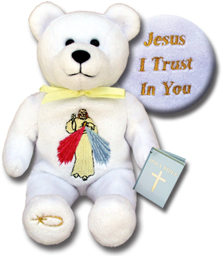 Teddy Bear Jesus Divine Mercy Holy Bears Plush