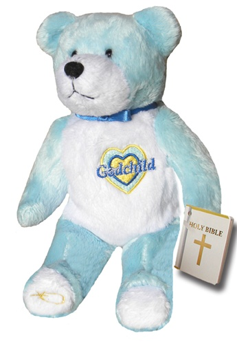 Teddy Bear Godchild Blue Holy Bears Plush