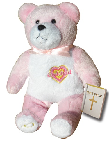 Teddy Bear Godchild Pink Holy Bears Plush