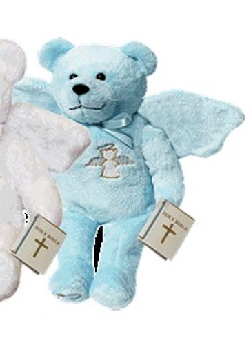 Teddy Bear Guardian Angel Blue Holy Bears Plush