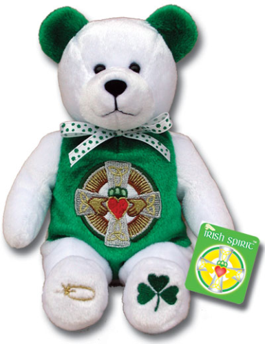 Teddy Bear Claddagh Celtic Irish Spirit Holy Bears Plush