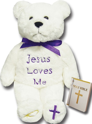 Teddy Bear Jesus Loves Me Holy Bears Plush