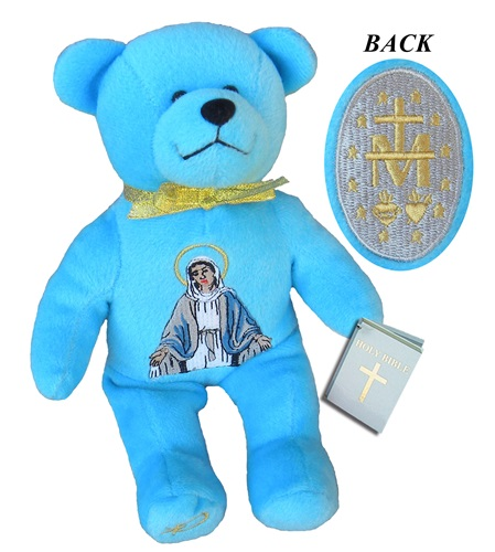 Teddy Bear Mary Miraculous Medal Holy Bears Plush