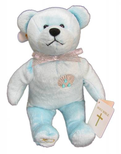 Teddy Bear Baptism Blue Holy Bears Plush