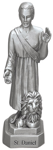 Statue St Daniel 3.5 inch Pewter Silver