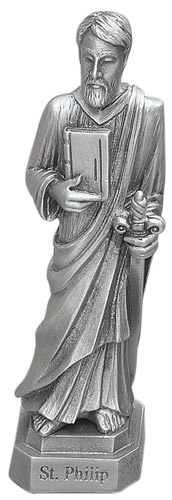 Statue St Phillip Apostle 3.5 inch Pewter Silver