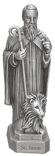 Statue St Jason Tarsus 3.5 inch Pewter Silver