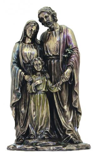 Statue Holy Family 10 inch Resin Bronze