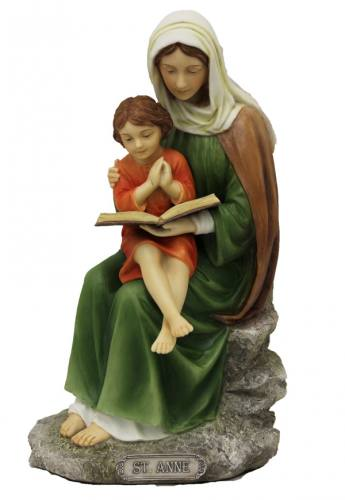 Statue St Anne 8 inch Resin Hand Painted