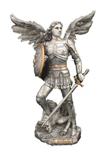 Statue Statue St Michael Archangel 9 Inch Resin Pewter