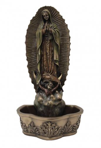 Holy Water Font Our Lady of Guadalupe 7.5 inch