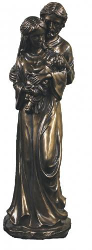 Statue Holy Family 16 Inch Resin Bronze