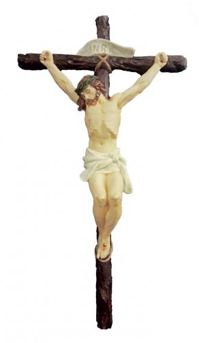 Crucifix Wall Hand-Painted 16 inch