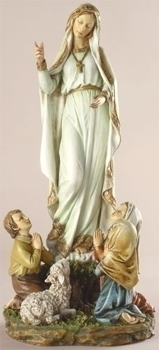 Statue Mary Our Lady Fatima 12 inch Resin Painted