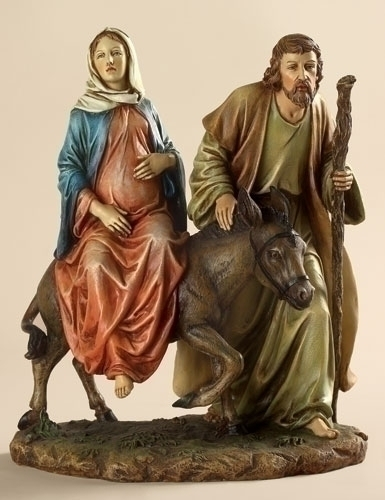 Statue Holy Family La Posada 10 inch Resin Painted