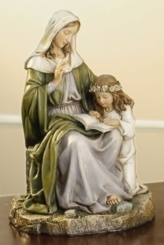 Statue St Anne 7 inch Resin Painted