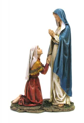Statue Mary Our Lady Lourdes 10.5 inch Resin Painted