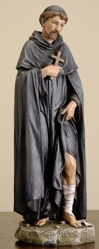 Statue St Peregrine 10 inch Resin Painted