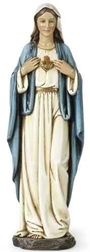 Statue Mary Immaculate Heart 10 inch Resin Painted