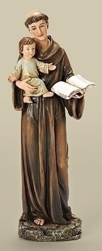 Statue St Anthony Padua 10 inch Resin Painted