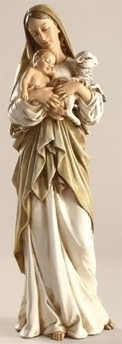 Statue Mary L'Innocence Madonna & Child 12 inch Resin Painted
