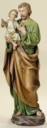 Statue St Joseph 14 inch Resin Painted
