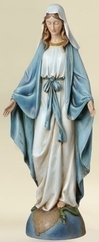 Statue Mary Our Lady Grace 14 inch Resin Painted