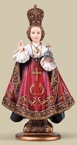 Statue Jesus Infant Child Prague 10 inch Resin Painted
